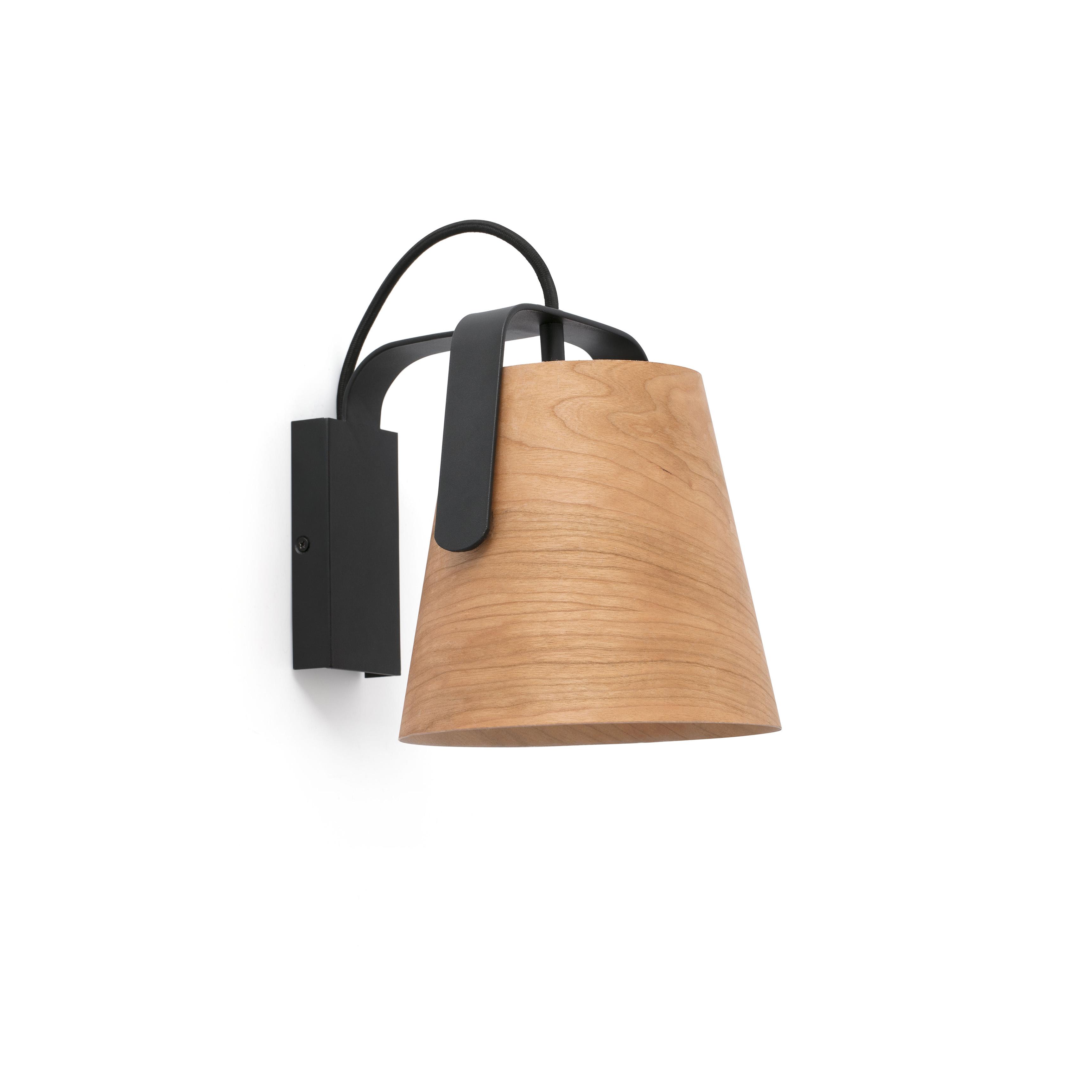 723cf8dc5a2 Aplique de pared para LED metal y madera natural 529844 ...
