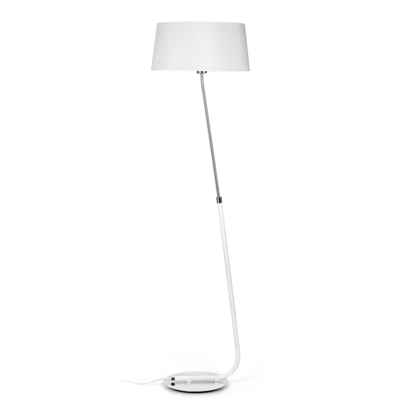 Comprar l mpara pie dise o blanca inclinada tienda for Lamparas led diseno