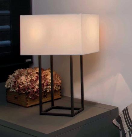 Comprar l mpara para mesa beige de estilo r stico tienda - Lamparas estilo rustico ...