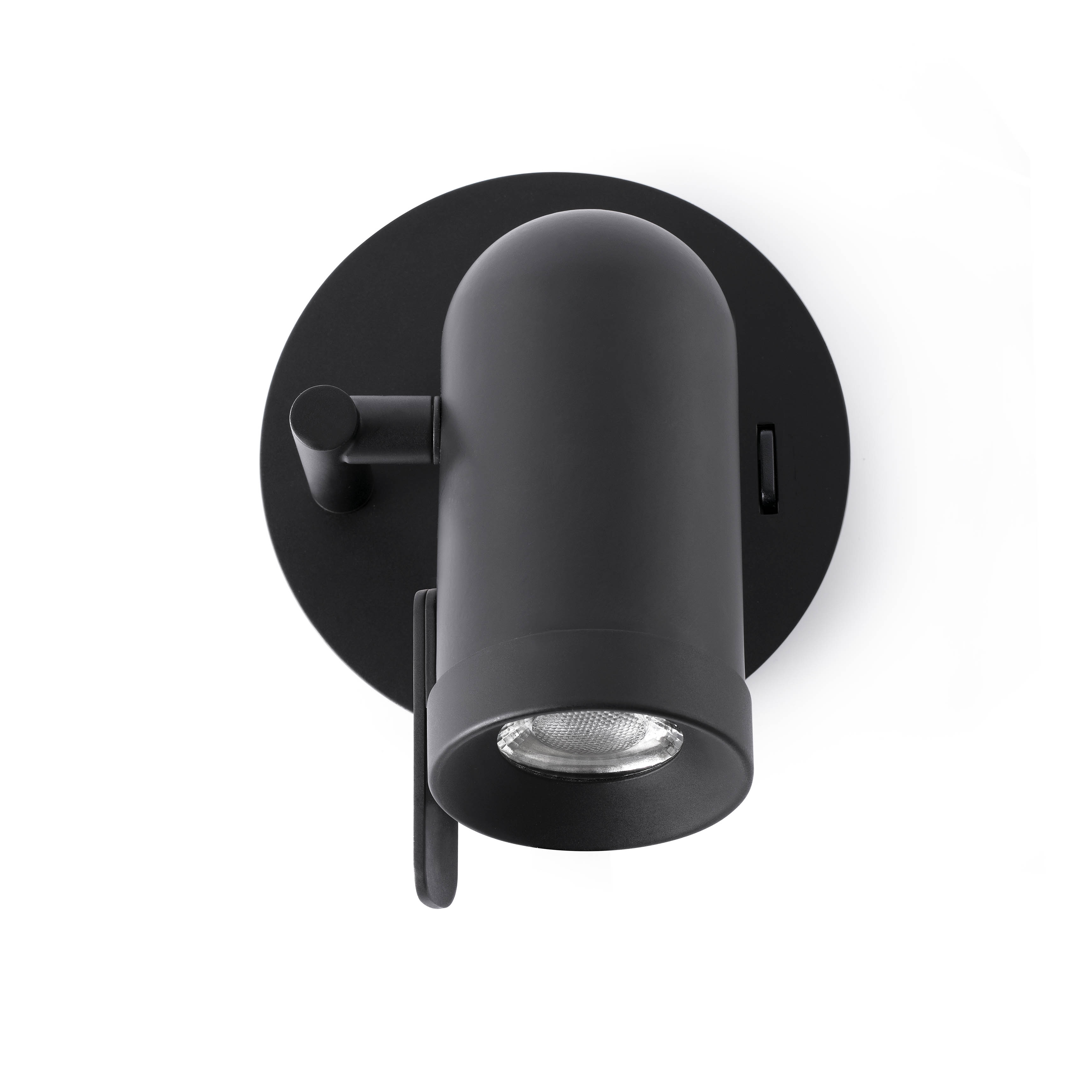 Aplique pared para LED metal negro moderno 543521