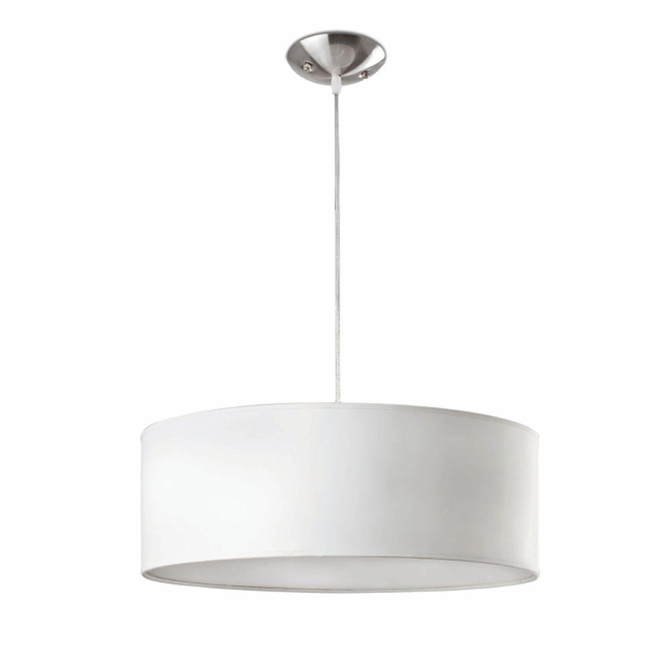 Comprar l mpara colgante blanca cl sica cil ndrica for Lamparas de interior modernas