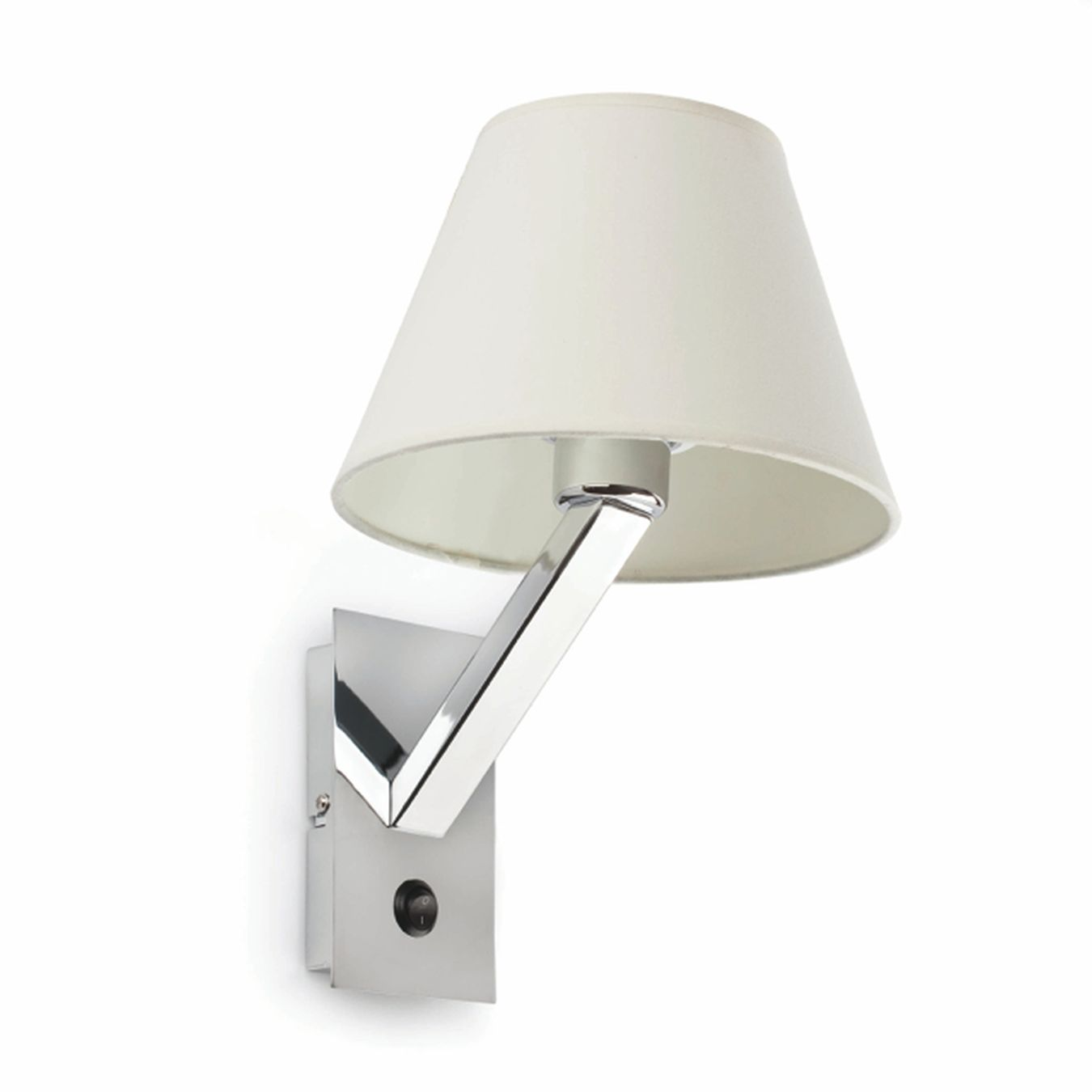 Comprar aplique de pared blanco con interruptor moma 1 - Lampara de pared ...