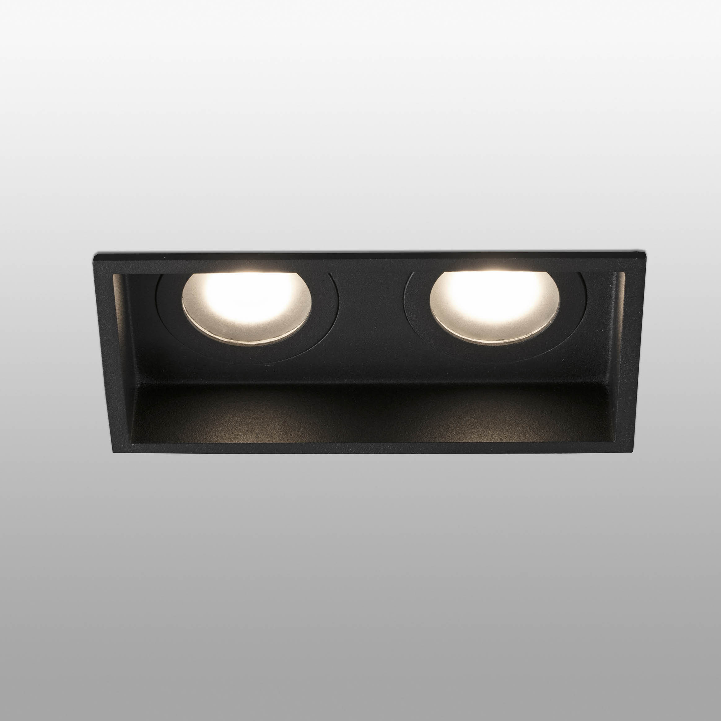 Foco doble IP44 LED GU10 171mm x 89mm negro 540125