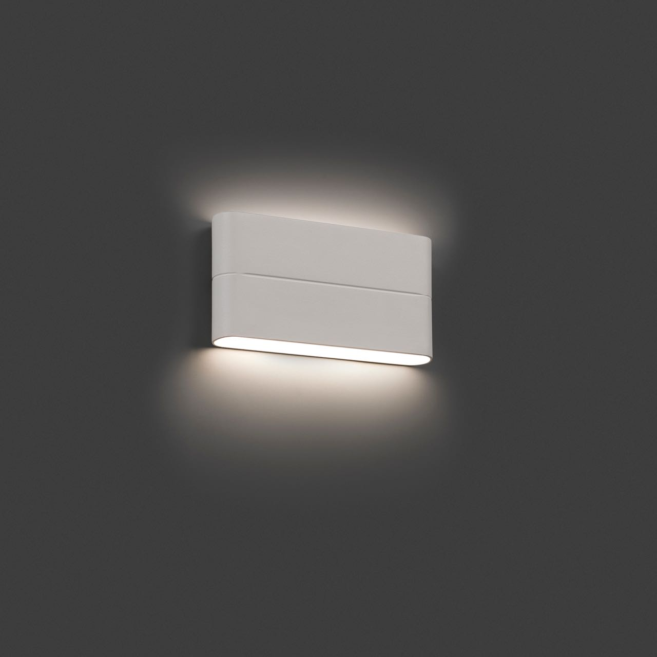L mpara de exterior para paredes con led integrado 12w for Apliques de pared exterior led