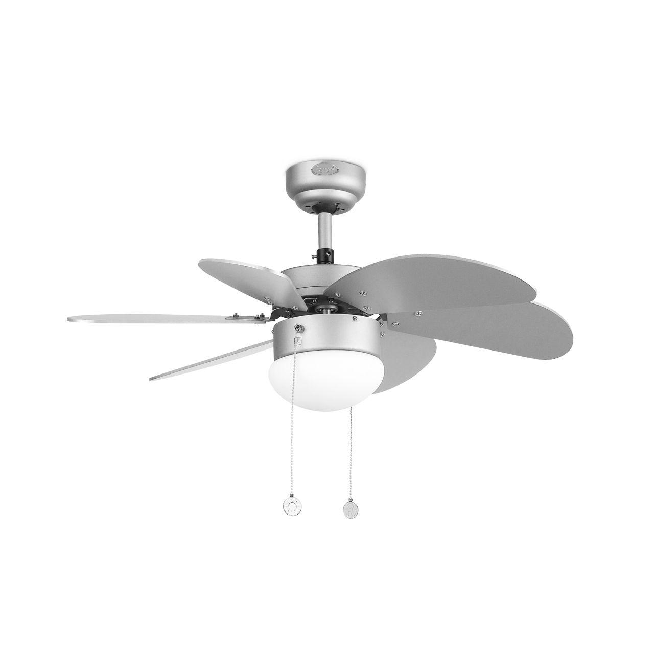 Comprar ventilador de techo peque o color gris palao faro for Ventiladores de techo alcampo